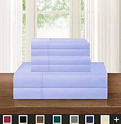 Elegant Comfort Luxurious Soft 1500 Thread Count Egyptian 6-Piece Premium Hotel Quality Wrinkle and Fade Resistant Coziest Bedding Set, Easy All around Elastic Fitted Sheet, Deep Pocket Queen Lavender