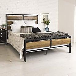 Walker Edison WE Furniture Queen Bed, Rustic Oak