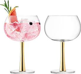 LSA International Gin Balloon Glass - Set of 2 - Gold