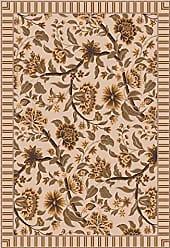 Milliken Carpet 4000032185 Pastiche Collection Vachell Round Area Rug, 77 x 77, Ecru