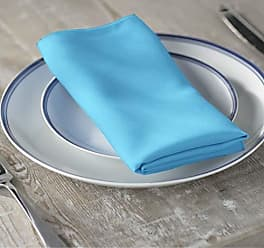LA Linen 10-Pack Polyester Poplin Napkins 17 by 17-Inch, Light Turquoise