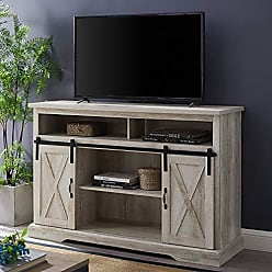 Walker Edison WE Furniture AZ52HBSBDWO TV Stand, 52, White Oak