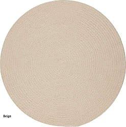 Rhody Rug Fun Braids Solid Sand Beige 6 Round