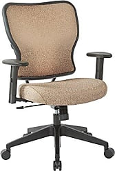 Office Star SPACE Seating Deluxe Fabric Seat and Back, 2 to 1 Synchro Tilt Control, Height Adjustable Arms, and Nylon Base Managers Chair, Sand