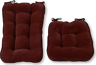 Greendale Home Fashions Jumbo Rocking Chair Cushion Set Hyatt fabric, Burgundy