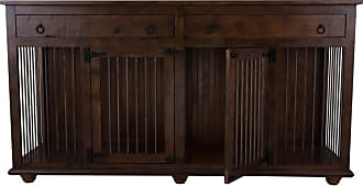 Eagle Furniture Cozy K-9 Small Dog Crate Credenza Tempting Turquoise - PCSDD-352364-TTCC