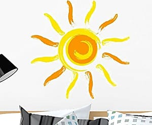 Wallmonkeys GEN-10249-24 Vector Sun Wall Mural W x 24 Inches H-Peel and Stick Removable Graphic, 24-inch x 24-inch