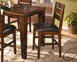 Ashley Furniture Larchmont Counter Height Bar Stool (Set Of 2), Burnished  Dark Brown