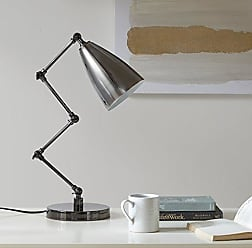Urban Habitat Bryce Black Adjustable Task Lamp, Transitional Metal Table Lamps for Bedrooms, 12.8L X 7.2W X 21.3H