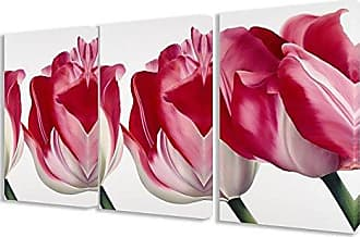 Stupell Industries Stupell Home Décor 3 Piece Fresh Pink Tulips Triptych Canvas Art Set, 16 x 1.5 x 24, Proudly Made in USA