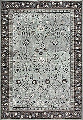 Rizzy Home Zenith Collection Polypropylene Sage Green/Taupe/Black/Beige/Ivory Oriental Area Rug 53 x 76
