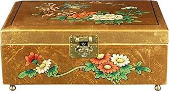Oriental Furniture Clementina Jewelry Box - Gold