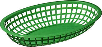 Winco USA Winco Oval Fast Food Baskets, 10.25-Inch by 6.75-Inch by 2-Inch, Green