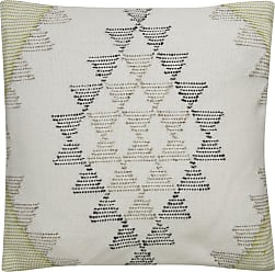 Jaipur Living Rugs Jaipur Tribal Viscose and Cotton Decorative Pillow - Ivory / Green Down Fill - PLW102540