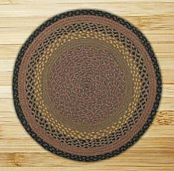 Earth Rugs 15-099 Round Area Rug, 4, Brown/Black/Charcoal
