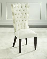 Haute House Home Pantages Damask Dining Chair, Ivory
