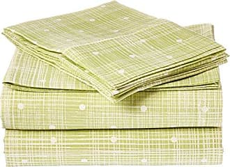 iEnjoy Home 4 Piece Sheet Set Polkadot Patterned, Full, Moss