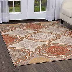Home Dynamix Tremont Willow Bohemian Area Rug, Ikat Taupe/Orange 53x72