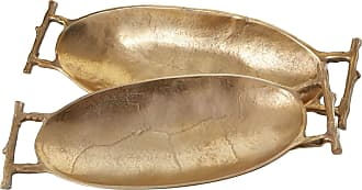 Dimond Home Gold Twig Handle Trays