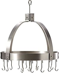 Old Dutch International Dome Pot Rack with 16 Hooks, Satin Nickel, 20 x 15.25 x 21