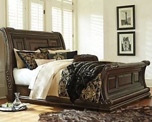 Ashley Furniture Valraven Queen Sleigh Bed, Brown