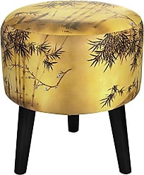 Oriental Furniture ORIENTAL Furniture Gold Bamboo Stool