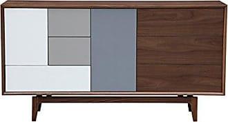 Kardiel Platform Modern Credenza/Mid-Century Dresser, Walnut Wood