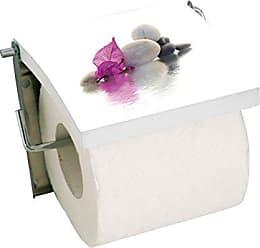Blanc WENKO 22811100 Stockeur papier WC Classic Plus 3,5 x 33 x 13 cm Acier