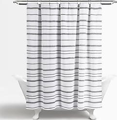 Lush Décor Stripe Clip Cotton Shower Curtain White - 16T004029