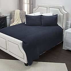 Rizzy Home Breeze on by Nightfall Quilted Bedding, Queen, Indigo