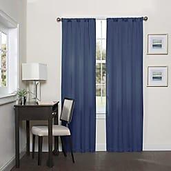 Ellery Homestyles Eclipse Blackout Curtains for Bedroom - Darrell 37 x 63 Insulated Darkening Single Panel Rod Pocket Window Treatment Living Room, 37 x 95, Indigo