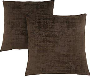 Monarch Specialties Brushed Velvet 18 x 18 Dark Brown 2 Piece Pillow, Size 8