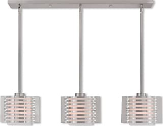 Livex Lighting 41033 Hilliard 3 Light 36-1/2 Wide Linear Pendant with