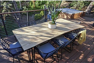 Harmonia Living Outdoor Harmonia Living Exo Teak 9 Piece Rectangular Patio Dining Set - HL-EXO-TK-9DS