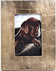Zodax 4 x 6 Photo, Gold Finish with Leaf Design Picture Frames