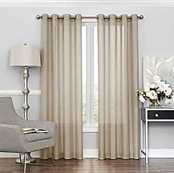 Ellery Homestyles Eclipse 15458052084ECR Liberty 52-Inch by 84-Inch Light Filtering Single Sheer Curtain Panel, Ecru