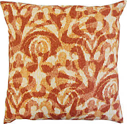 The Pillow Collection Coretta Ikat Bedding Sham Persimmon Standard/20 x 26