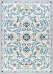 Tayse Madeline Transitional Floral Cream Non-Skid Rectangle Area Rug, 4 x 5