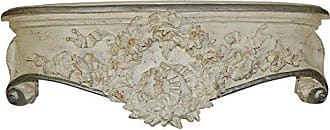 Hickory Manor House Floral Wreath Bedcrown, Creme/Gold/Silver