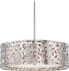 George Kovacs Layover 4-Light Pendant - Chrome & White Shade