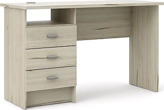 Porch /& Den Grey Corner Desk Computer Office Furniture Table Drawers Workstation
