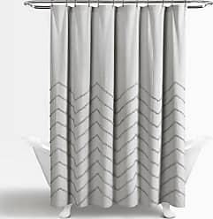 Lush Décor Chenille Cotton Shower Curtain Pastel Blue - 16T003879