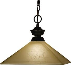 Z-Lite 100701-MGL13 1 Light Full Sized Pendant with Golden Linen Shade