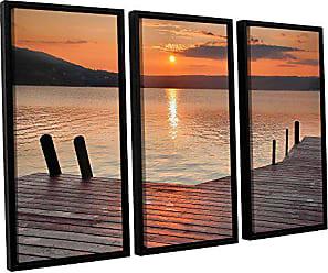 ArtWall 3 Piece Steve Ainsworths Another Kekua Sunrise Floater Framed Canvas Set, 36 x 54