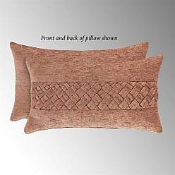Five Queens Court Sussex Boudoir Decorative Throw Pillow, Coral, 20x12