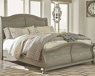 Ashley Furniture Marleny King Sleigh Bed, Gray/Whitewash