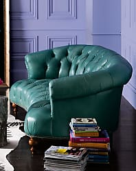 Old Hickory Tannery Turquoise Leather Sofa 71