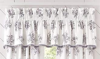 Five Queens Court Shannon Window Straight Valance, Grey, 88x18.25