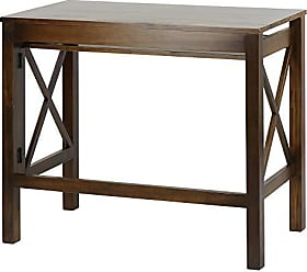 Yu Shan Casual Home Montego Folding Desk with Pull-Out Tray-Warm Brown