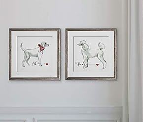 WEXFORD HOME Must Love Dogs -2 Piece Set Art Print, 16x16